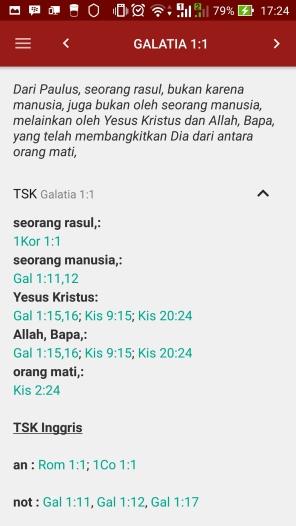 Treasury of Scripture Knowledge (mirip dengan konkordansi)